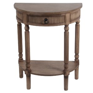 Great Daugherty 1 Drawer Half Round End Table