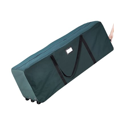 Elf Stor Premium Green Rolling Duffle Bag Christmas Tree Storage