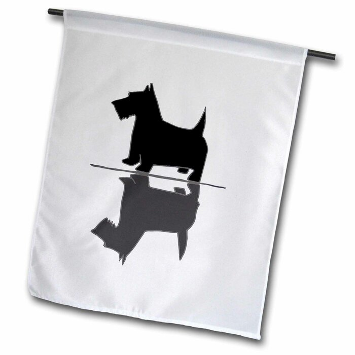 Funny Cute Artsy Scottish Terrier Dog and His Reflection Image Polyester  1'6