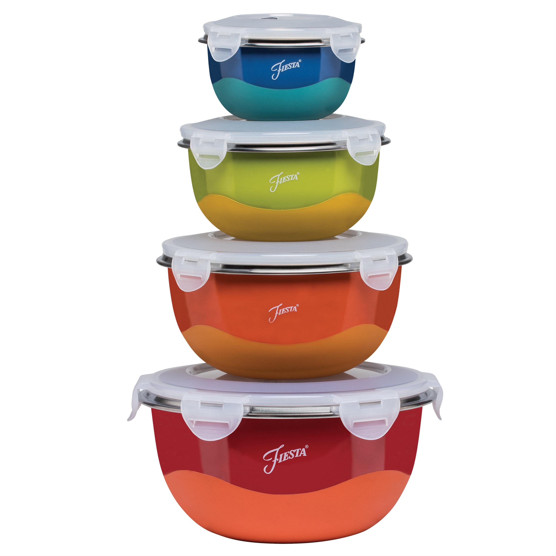 Fiesta Microwave Safe 8 Piece Stainless Steel Mixing Bowl Set Reviews Wayfair