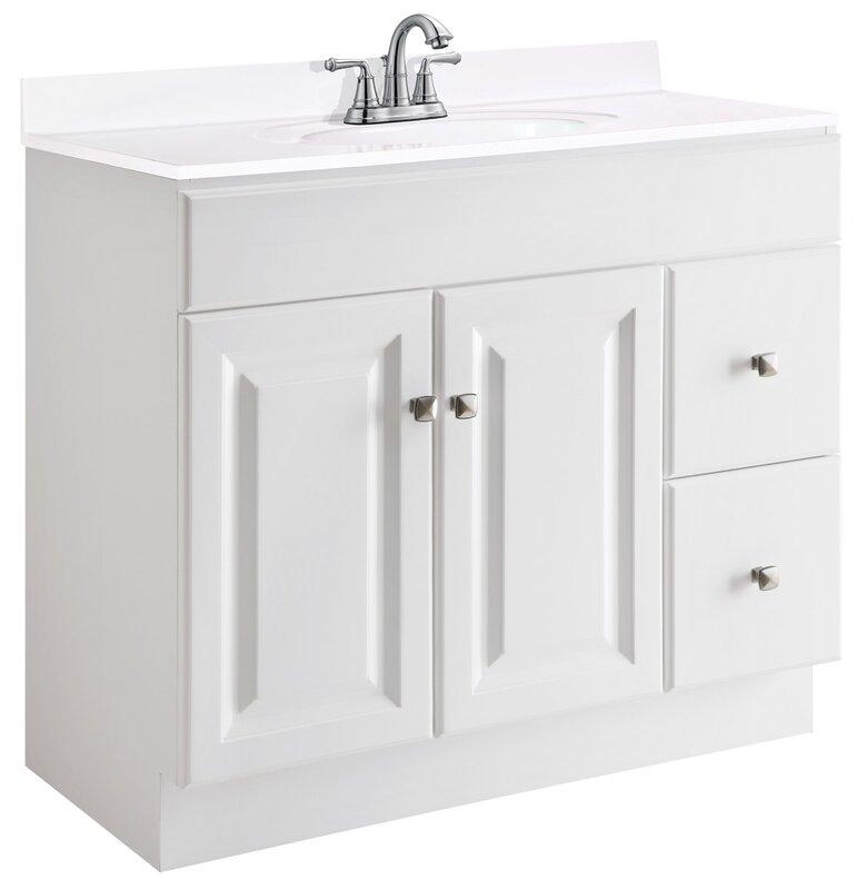 """36 Bathroom Vanity design house wyndham 36"""" single bathroom vanity base & reviews"""
