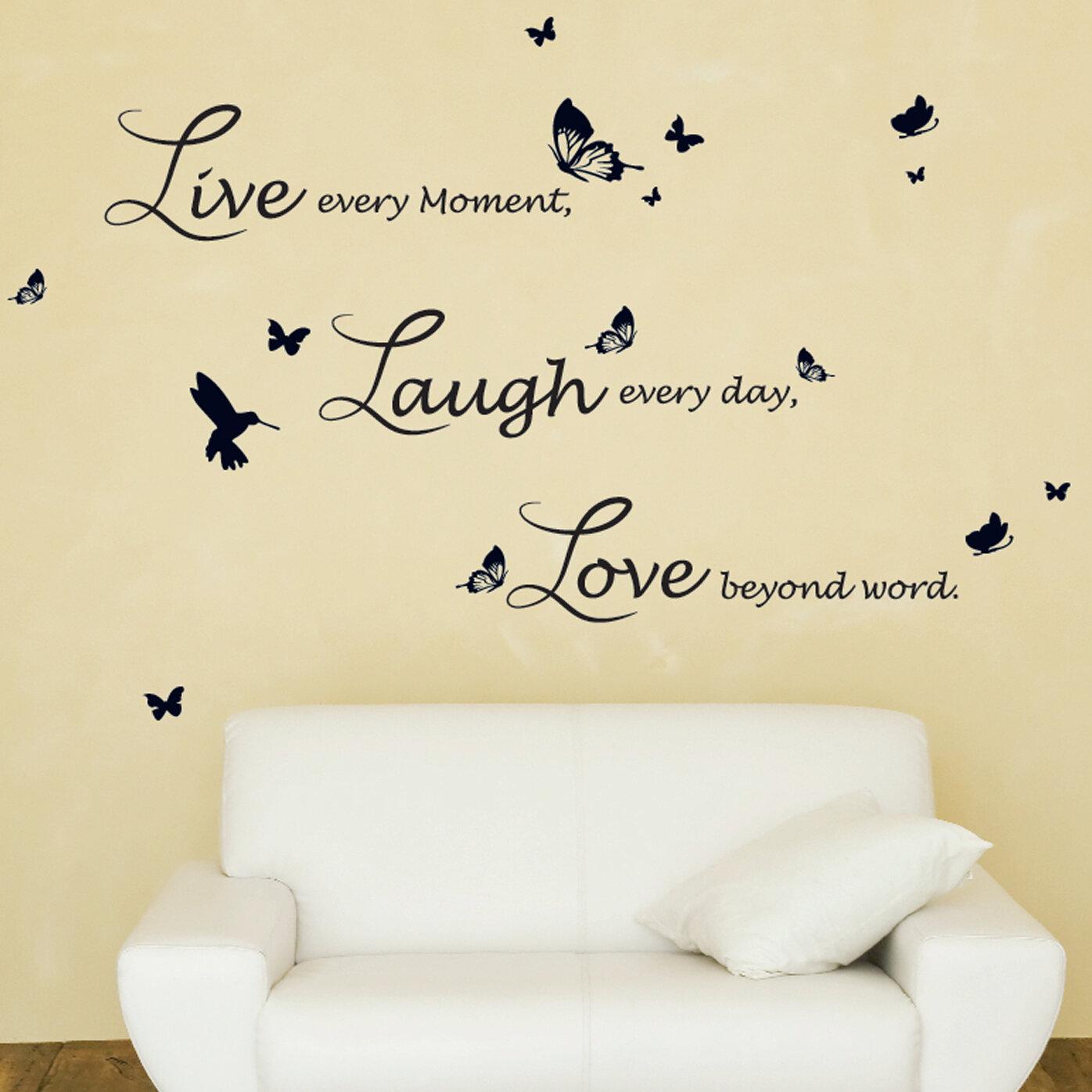 Walplus Lucida Live Laugh Love Wall Decal Reviews Wayfair