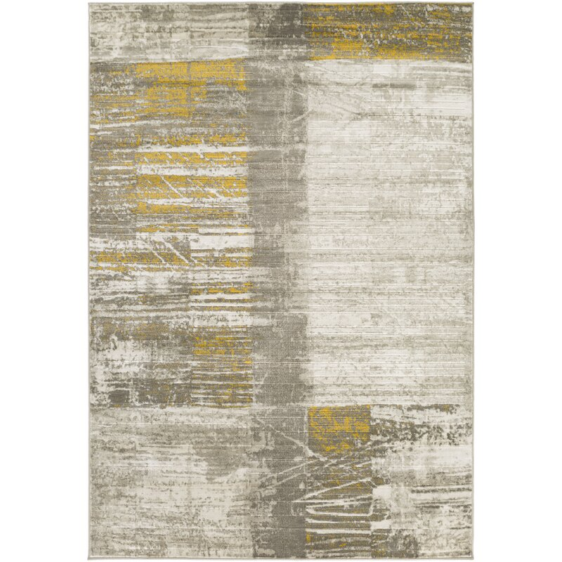 Trent Austin Design Chartwell Light Gray Gold Area Rug