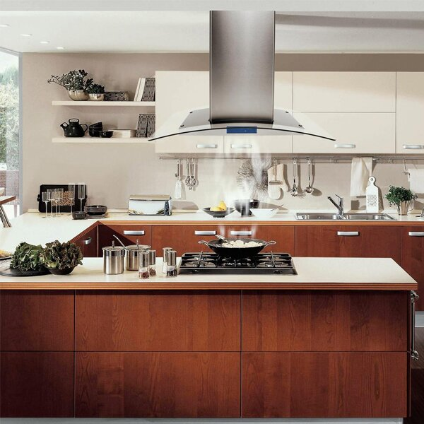 900 CFM Island Mount Range Hood In Stainless Steel With