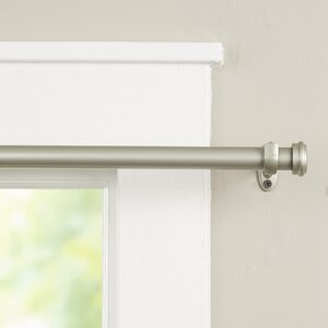 Wayfair Basics End Cap Single Curtain Rod & Hardware Set