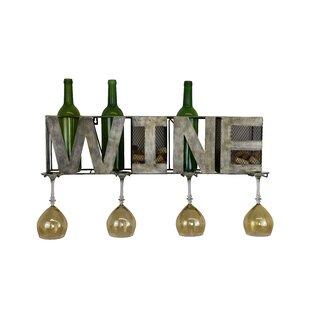 Metal 3 Bottle Wall Mounted Wine Rack