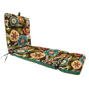 Reversible Polyester Outdoor Chaise Lounge Cushion