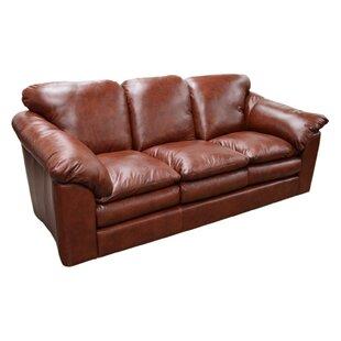 oregon leather sofa - Red Leather Sofa