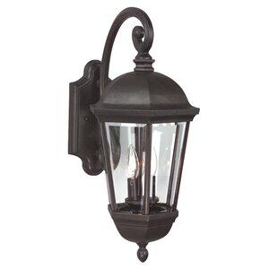 Oakhill 3-Light Aluminum Outdoor Wall Lantern
