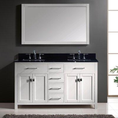 "Bathroom Vanity Black latitude run templeton 60"" double bathroom vanity set with black"