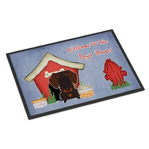 Dog House Wire Haired Dachshund Doormat