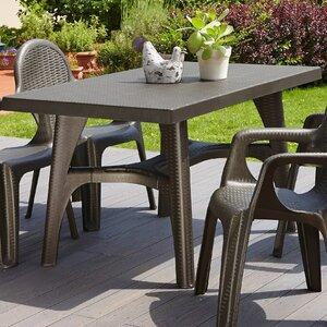 Intrecciata 80cm Square Rattan Style Outdoor Dining Table