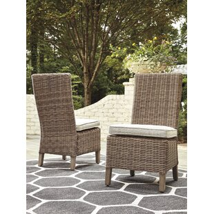 Farmersville Patio Dining Chair With Cushion Set Of 2