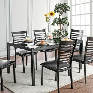 Mitchell Contemporary 5 Piece Solid Wood Dining Set