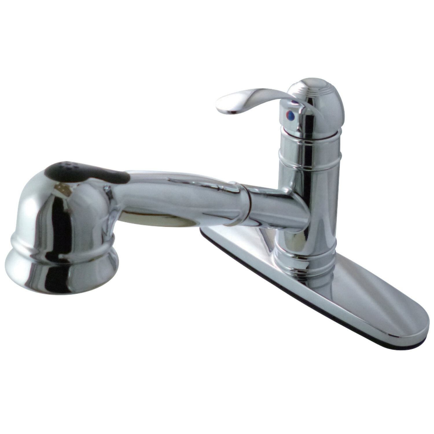 Pull Out Single Handle Kitchen Faucet with Side Sprayer