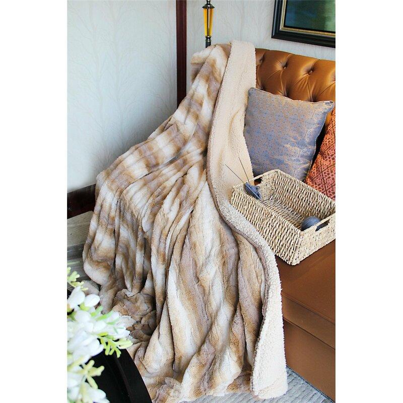 Tache Home Fashion Threshold Faux Fur Throw Blanket Wayfair Unique Tahari Throw Blanket