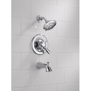 lahara tub and shower faucet trim with lever handles