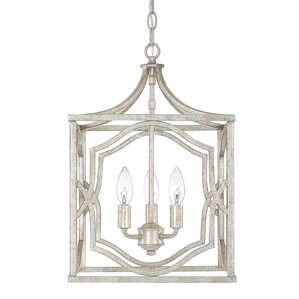 Destrey Traditional 3-Light Metal Foyer Pendant  sc 1 st  Wayfair & Square u0026 Rectangular Shaped Pendants Youu0027ll Love | Wayfair azcodes.com