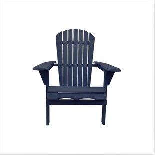 Cuyler Solid Wood Folding Adirondack Chair
