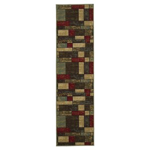 Galesburg Brown/Red Area Rug