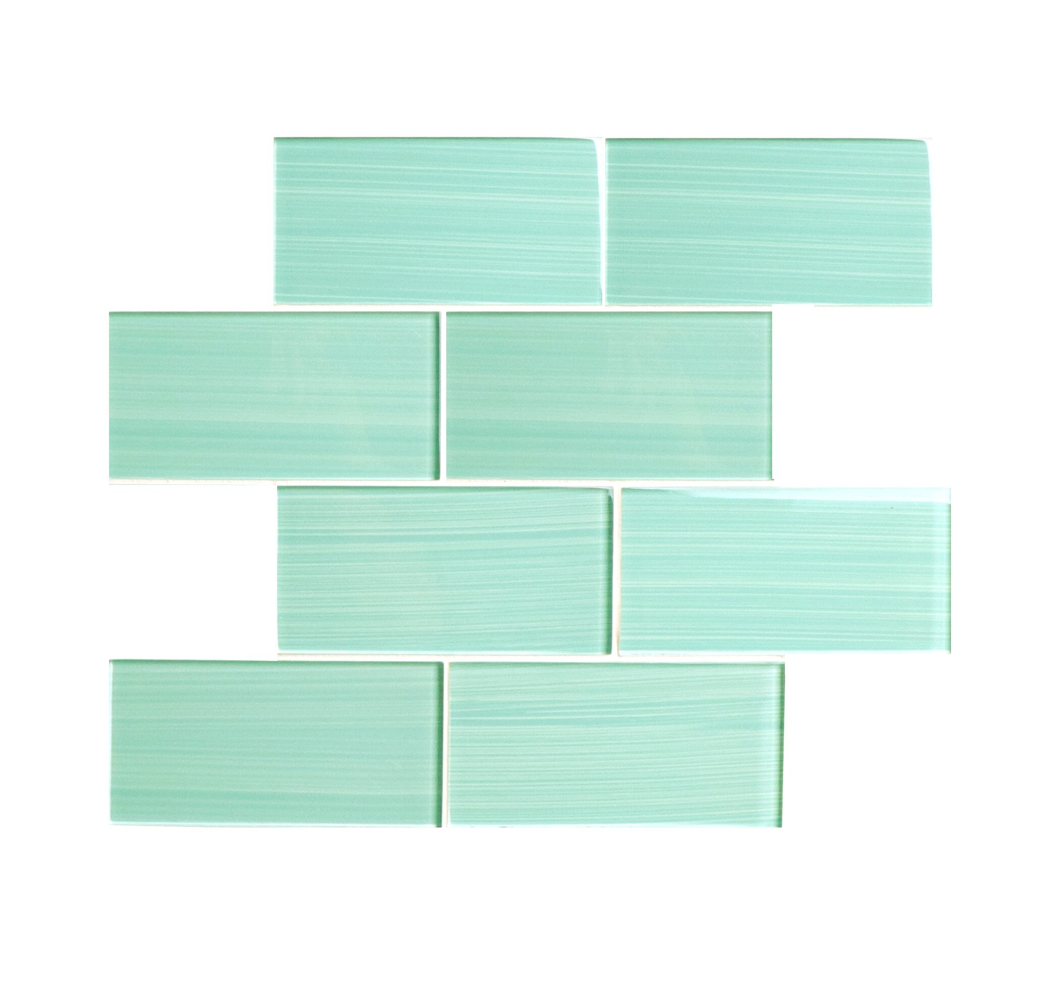 Ws Tiles Hand Painted Series 3 X 6 Glass Subway Tile In Light