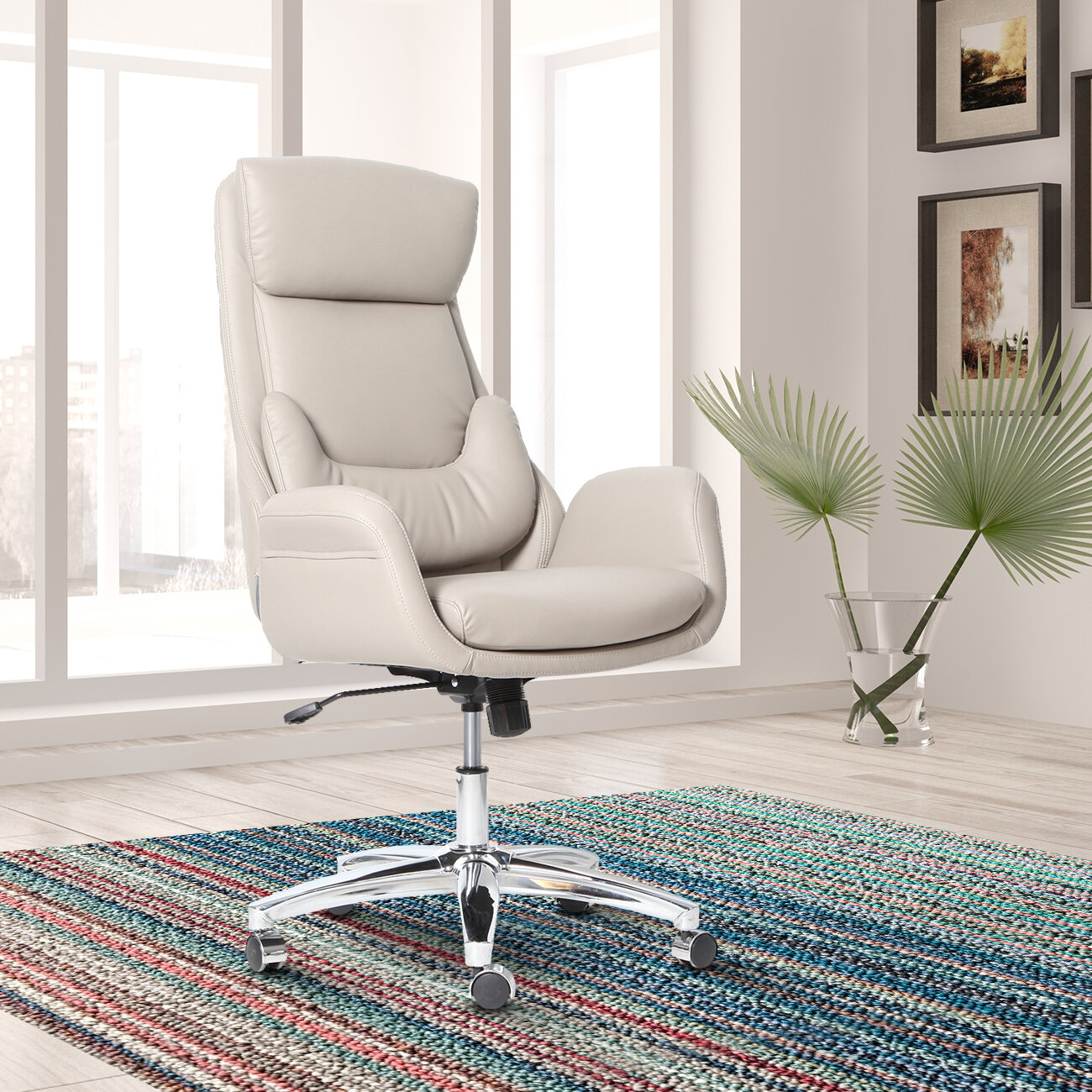 Ebern Designs Conley Best Ergonomic Home Office High Back Executive Chair U0026  Reviews | Wayfair