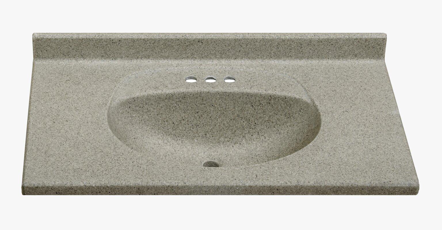 at vanities marble us shop white integral on lowes top common ambassador cultured pl tops single bathroom com sink vanity