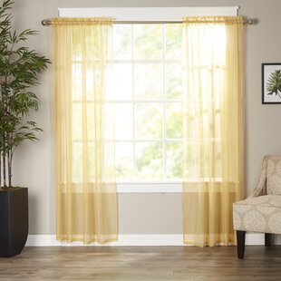 Bright Yellow Sheer Curtains Wayfair