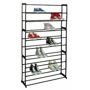 10-Tier 50 Pair Shoe Rack  sc 1 st  Wayfair & 50 Pair Shoe Storage | Wayfair
