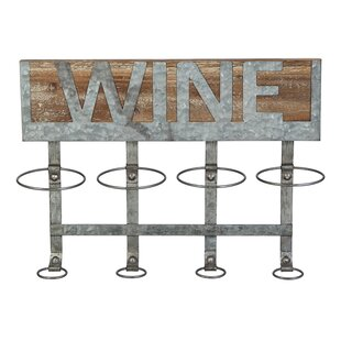 Owes 4 Bottle Wall Mounted Wine Bottle Rack