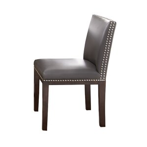 Tiffany Genuine Leather Upholstered Dining Chair Set Of 2