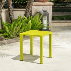 Fennia Outdoor Aluminum End Table by Varick Gallery