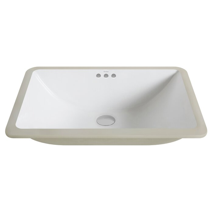 Kraus Elavo Ceramic Rectangular Undermount Bathroom Sink with ...