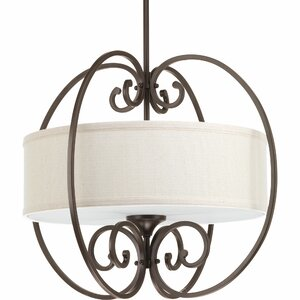 Farragut 3-Light Drum Pendant