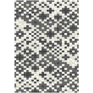 Rubie Vintage Geometric Pattern Grey Rug