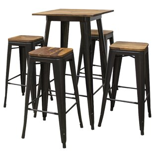 Rodrigues 5 Piece Pub Table Set
