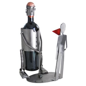 Golf Putting Caddy 1 Bottle Tabletop Wine Rack by H & K SCULPTURES
