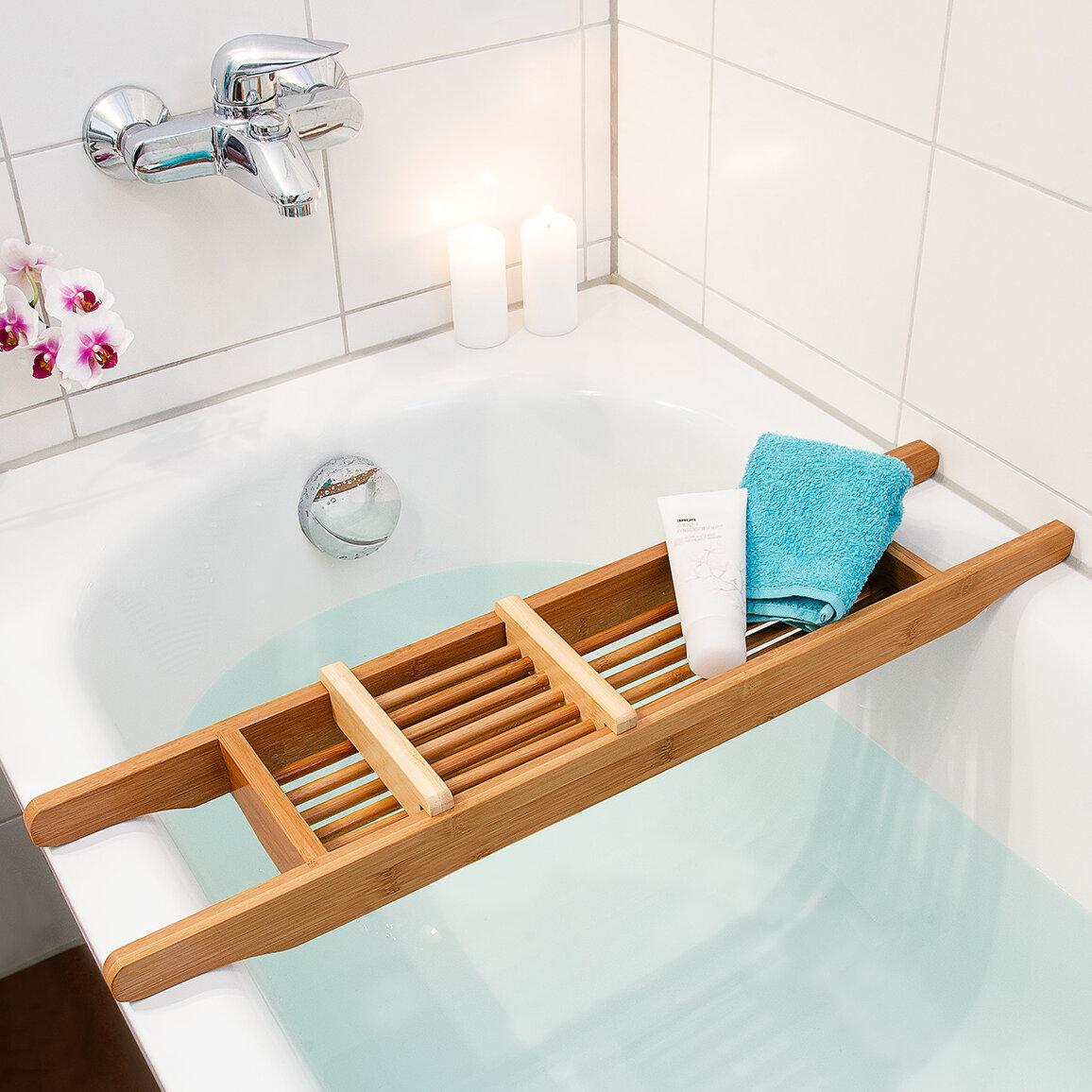 Relaxdays Bamboo Hanging Bath Rack & Reviews | Wayfair.co.uk