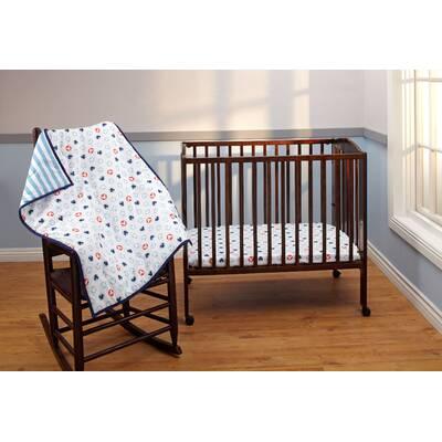 Mickey Mouse 3 Piece Crib Bedding Set