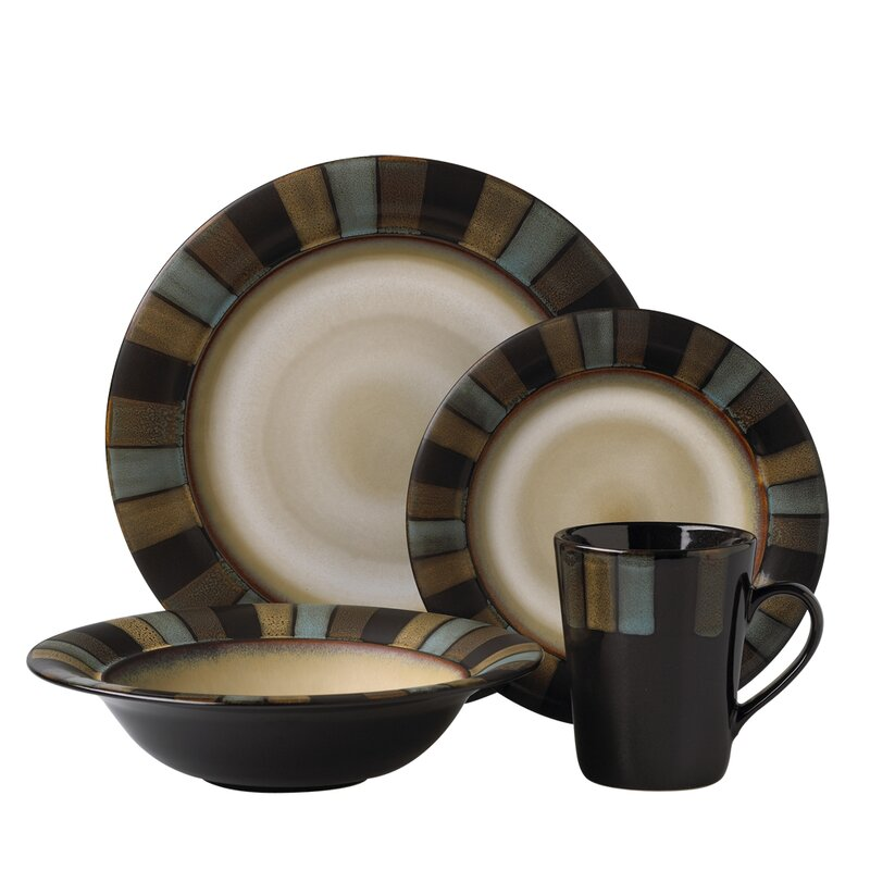 Cayman 16 Piece Dinnerware Set Service for 4  sc 1 st  Wayfair & Pfaltzgraff Everyday Cayman 16 Piece Dinnerware Set Service for 4 ...