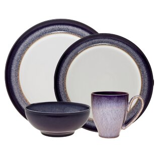 Heather 4 Piece Place Setting Service for 1  sc 1 st  Wayfair & Mid-Century Modern Dinnerware Sets You\u0027ll Love | Wayfair