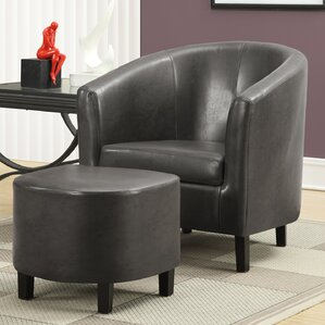 Monarch Specialties Inc. Barrel Chair and Ottoman Set