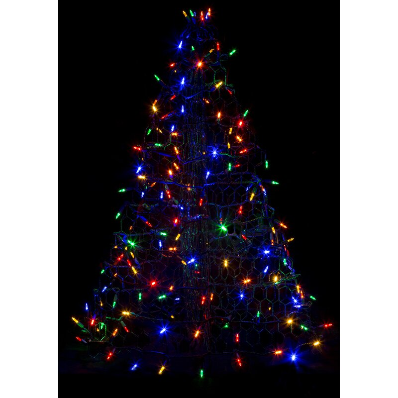 Crab Pot Christmas Tree With 160 Led Mini Lights