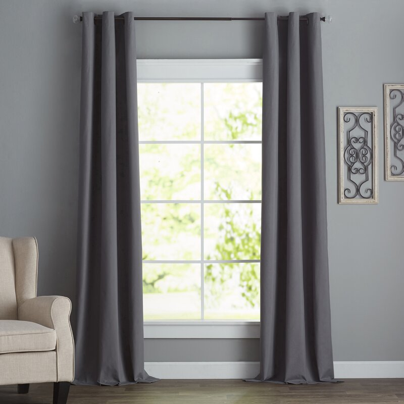 Charlton Home Bexley Solid Blackout Thermal Grommet Single