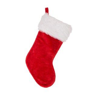 d9379a389 Traditional Plush Santa Christmas Stocking