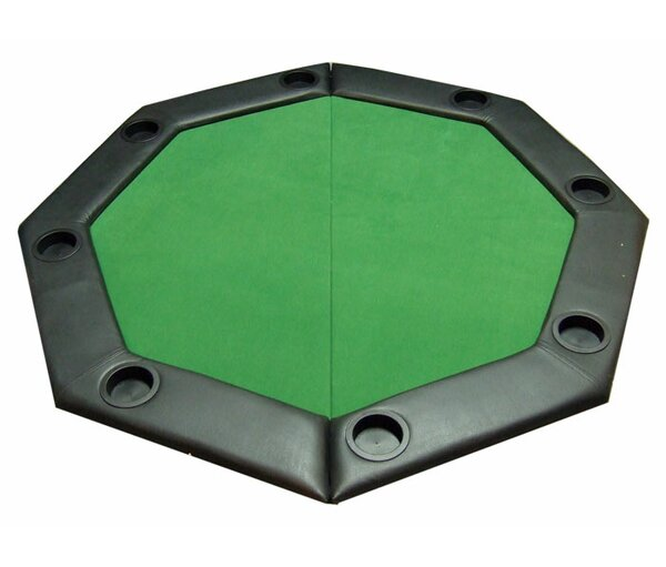Great JP Commerce Padded Octagon Folding Poker Table Top With Cup Holders In  Green U0026 Reviews | Wayfair
