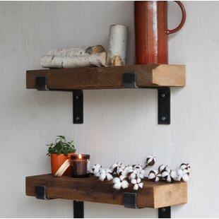 reclaimed wood mug rack urban rustic. Buckelew Made Chunky Reclaimed Barn Wood Wall Shelf (Set Of 2) Mug Rack Urban Rustic