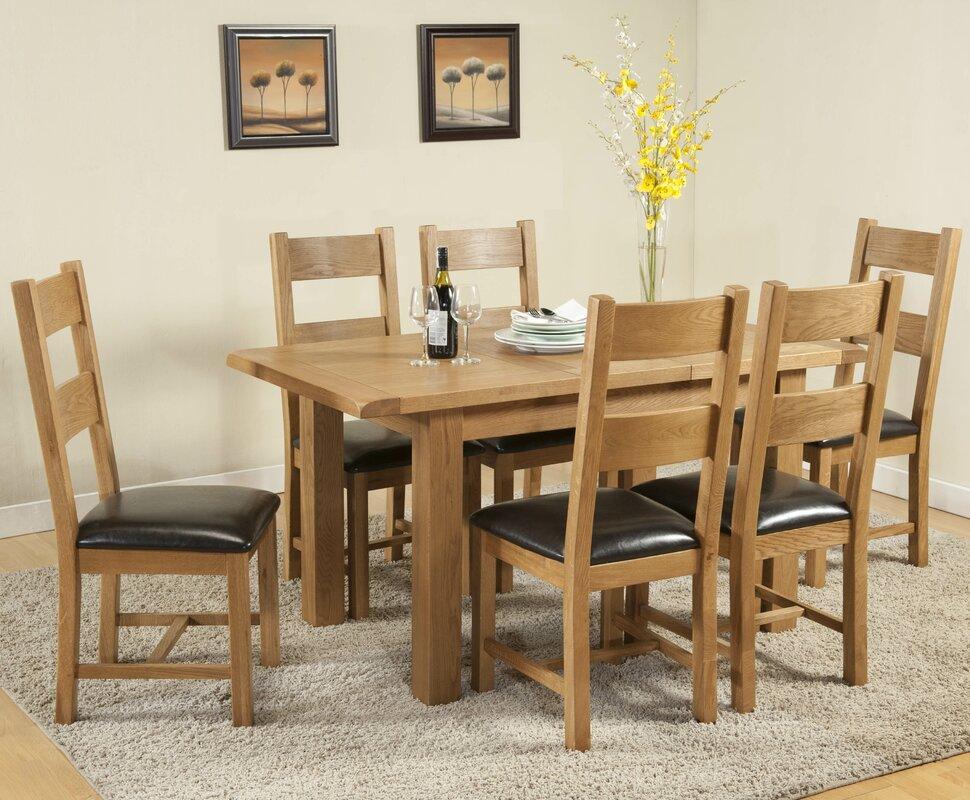 hazelwood home essgruppe rothbury mit ausziehbarem tisch und 6 st hlen. Black Bedroom Furniture Sets. Home Design Ideas