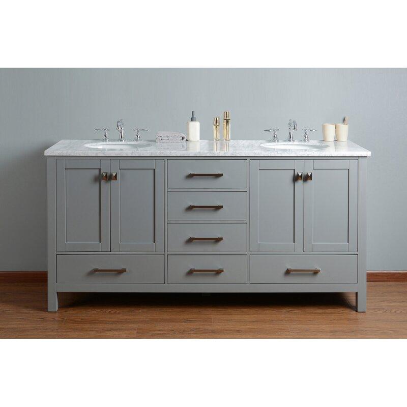 """Brayden Studio Ankney 72"""" Double Sink Bathroom Vanity Set ..."""