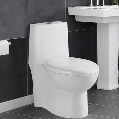 Aqualife Corp Colorado 1.28 GPF Elongated One-Piece Toilet (Seat Included)